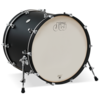 DDLM1822KKBL - DW DESIGN SERIES 18X22 ADD-ON BASS DRUM - BLACK SATIN