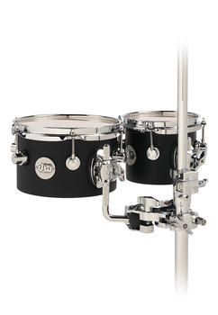 DDCT02BLCR - DW DESIGN SERIES CONCERT TOM SET - 5X8 & 5X10 W/MOUNT - BLACK SATIN picture