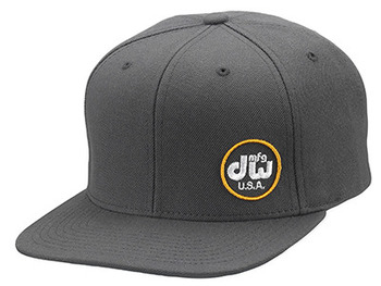 PR10HAT11 - DW MFG HAT, SNAPBACK,GRAY W/ YELLOW LOGO picture
