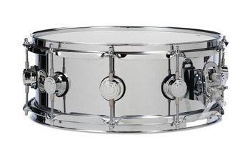 DRVS0414SPC - COLLECTOR'S SERIES 4X14 STEEL CHROME POLISHED SNARE W/CHROME HW picture