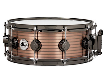 DRVR5514SCN - COLLECTOR'S SERIES 5.5X14 RIBBED VINTAGE STEEL - COPPER SNARE - BLACK NICKEL HW picture