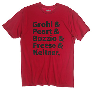 PR25SSGP - GROHL & PEART, RED T-SHIRT picture
