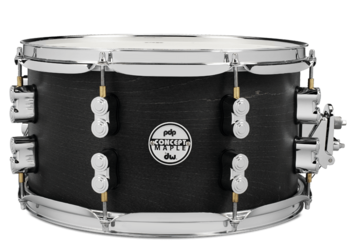 PDSN0713BWCR - PDP CONCEPT MAPLE SNARE - BLACK WAX - CHROME HW 7X13 picture