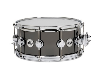 DRVB6514SVC - COLLECTOR'S SERIES 6.5X14 BLACK NICKEL OVER BRASS SNARE W/ CR HW picture