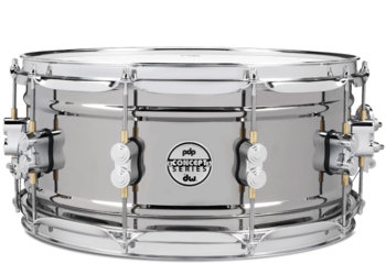 PDSN6514BNCR - PDP Concept Series Black Nickel over Steel Snare with Chrome Hardware 6.5X14 picture