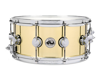 DRVN6514SPC - COLLECTOR'S SERIES 6.5X14 POLISHED BELL BRASS SNARE CR HW picture