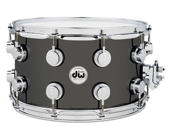 DRVB0814SVC - COLLECTOR'S SERIES 8X14 BLACK NICKEL OVER BRASS SNARE W/ CR HW picture