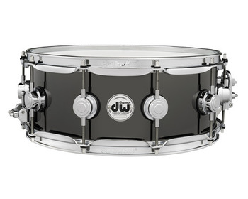 DRVB5514SVC - COLLECTOR'S SERIES 5.5X14 BLACK NICKEL OVER BRASS SNARE W/ CR HW picture