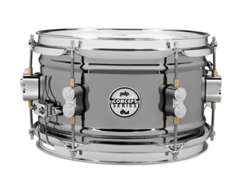 PDSN0610BNCR - PDP Concept Series Black Nickel over Steel Snare with Chrome Hardware 6x10 picture