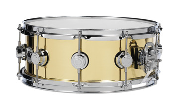 DRVN5514SPC - COLLECTOR'S SERIES 5.5X14 POLISHED BELL BRASS SNARE CR HW picture