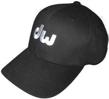 Black Flex Fit Hat w/ embroidered white DW logo picture