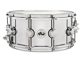DRVS6514SPC - COLLECTOR'S SERIES 6.5X14 STEEL CHROME POLISHED SNARE W/CHROME HW picture