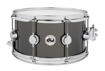 DRVB0713SVC - COLLECTOR'S SERIES 7X13 BLACK NICKEL OVER BRASS SNARE, CR HW picture