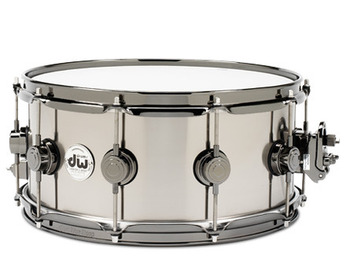 DRVT6514SVN - COLLECTOR'S SERIES 6.5X14 BLACK TI SNARE W/ BLK NKL HW picture