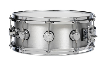 DRVA6514SVC - COLLECTOR'S SERIES 6.5X14 ALUMINUM SNARE W/ RINGS CHROME HW picture