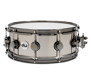DRVT5514SVN - COLLECTOR'S SERIES 5.5X14 BLACK TI SNARE W/ BLK NKL HW picture