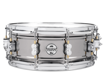 PDSN5514BNCR - PDP Concept Series Black Nickel over Steel Snare with Chrome Hardware 5.5X14 picture