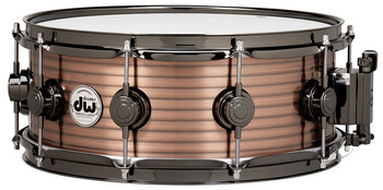 DRVR6514SCN - COLLECTOR'S SERIES 6.5X14 RIBBED VINTAGE STEEL - COPPER SNARE - BLACK NICKEL HW picture