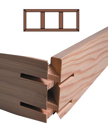 K3 Custom Stretcher Bar Frame Kit 3.5'' Deep <b>K3-24x96</b> picture