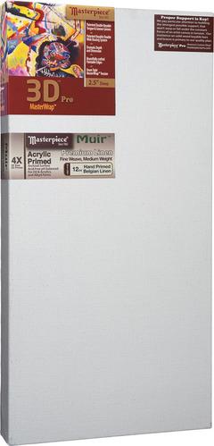 "2 Units - 20x30 3D™ PRO 2.5"" Muir™ Acrylic Primed Linen picture"