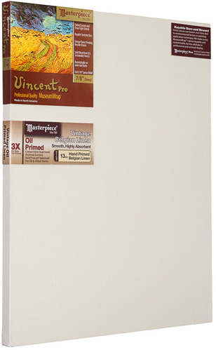 "24x48 Vincent™ PRO 7/8"" Vintage™ Oil Primed Linen picture"