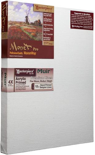 """3 Units - 30x30 Monet™ PRO 1.5"""" Muir™ Acrylic Primed Linen picture"""