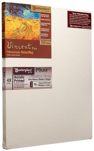 """4 Units - 20x24 Vincent™ PRO 7/8"""" Muir™ Acrylic Primed Linen picture"""