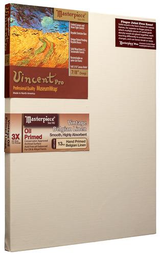 """24x36 Vincent™ PRO 7/8"""" Vintage™ Oil Primed Linen picture"""