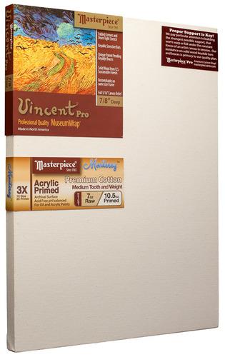 """5 Units - 16x20 Vincent™ PRO 7/8"""" Monterey™ 7oz Acrylic Primed Cotton picture"""