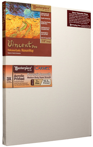 """5 Units - 16x20 Vincent™ PRO 7/8"""" Carmel™ Portrait Smooth Cotton picture"""