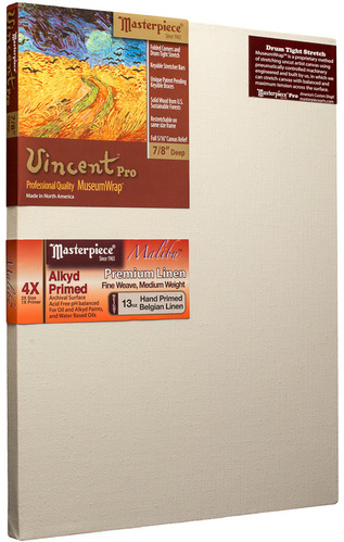 "5 Units - 18x24 Vincent™ PRO 7/8"" Malibu™ Alkyd Oil Primed Linen picture"