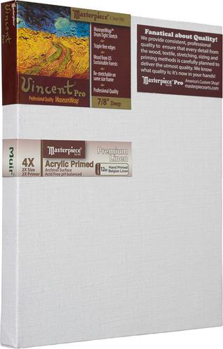 """7x9 Vincent™ PRO 7/8"""" Muir™ Acrylic Primed Belgian Linen picture"""