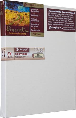 """6x6 Vincent™ PRO 7/8"""" Vintage™ Oil Primed Linen picture"""