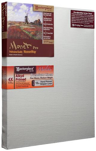 """20x32 Monet™ PRO 1.5"""" Malibu™ Alkyd Oil Primed Linen picture"""