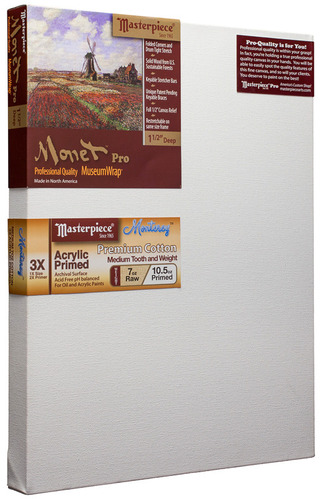 "3 Units - 40x50 Monet™ PRO 1.5"" Monterey™ 7oz Acrylic Primed Cotton picture"
