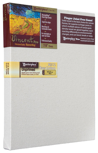 """12x12 Vincent™ PRO 7/8"""" Raw Unprimed No. 12 Heavy Cotton picture"""