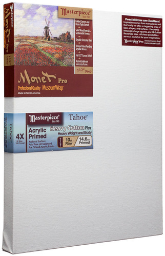 """20x24 Monet™ PRO 1.5"""" Tahoe™ 10oz Triple Acrylic Primed picture"""