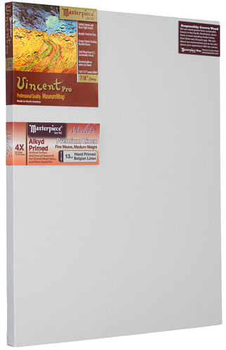 "4 Units - 36x48 Vincent™ PRO 7/8"" Malibu™ Alkyd Oil Primed Linen picture"