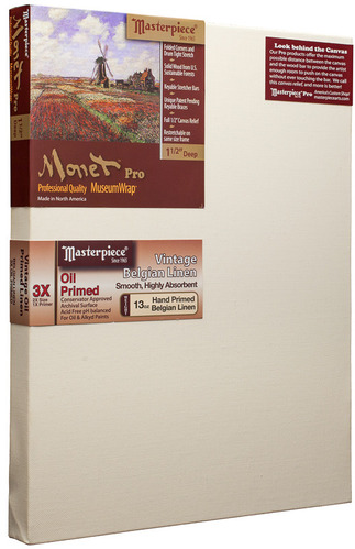 """16x20 Monet™ PRO 1.5"""" Vintage™ Oil Primed Linen picture"""