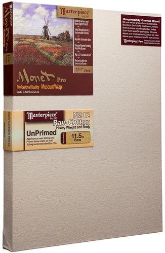 """30x30 Monet™ PRO 1.5"""" Raw Unprimed No. 12 Heavy Cotton picture"""