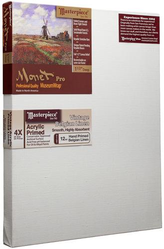 """3 Units - 24x30 Monet™ PRO 1.5"""" Vintage™ Acrylic Primed Linen picture"""