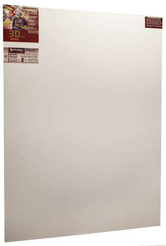 "2 Units - 48x54 3D™ PRO 2.5"" Muir™ Acrylic Primed Linen picture"