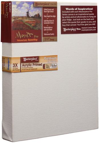 """3 Units - 9x9 Monet™ PRO 1.5"""" Monterey™ 7oz Acrylic Primed Cotton picture"""