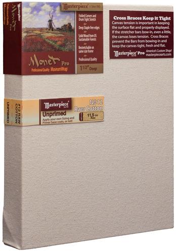 """3 Units - 4x4 Monet™ PRO 1.5"""" Raw Unprimed No. 12 Heavy Cotton picture"""