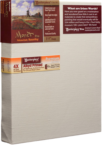 "3 Units - 12x12 Monet™ PRO 1.5"" Malibu™ Alkyd Oil Primed Linen picture"