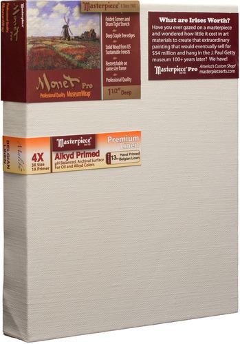"""14x18 Monet™ PRO 1.5"""" Malibu™ Alkyd Oil Primed Linen picture"""