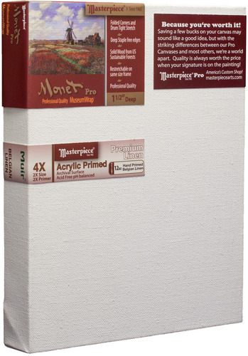 "3 Units - 7x11 Monet™ PRO 1.5"" Muir™ Acrylic Primed Linen picture"