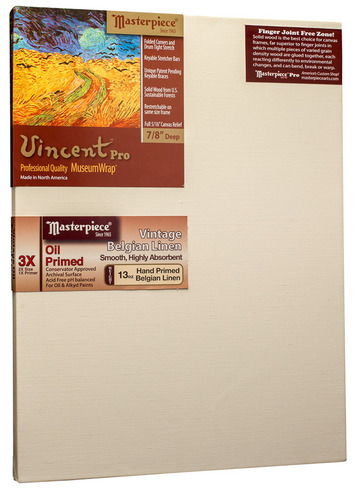 "20x25 Vincent™ PRO 7/8"" Vintage™ Oil Primed Linen picture"