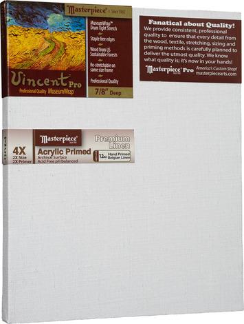 """10x15 Vincent™ PRO 7/8"""" Muir™ Acrylic Primed Belgian Linen picture"""