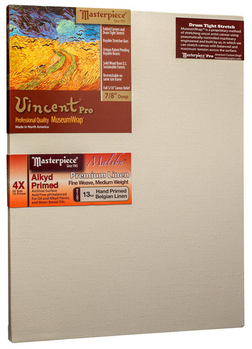 "17x24 Vincent™ PRO 7/8"" Malibu™ Alkyd Oil Primed Linen picture"